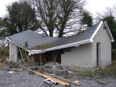 weather damaged property